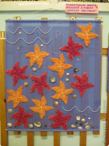 Панно с морскими звёздами фото 2