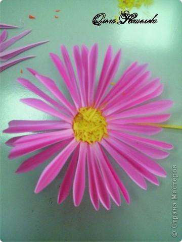 Картина панно рисунок Мастер-класс Квиллинг Розовая композиция и mini МК Картон фото 16