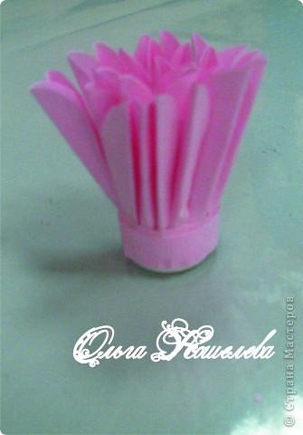 Картина панно рисунок Мастер-класс Квиллинг Розовая композиция и mini МК Картон фото 28