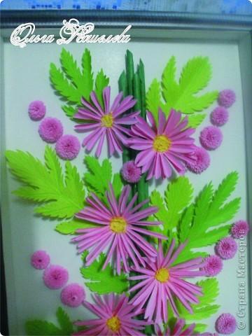 Картина панно рисунок Мастер-класс Квиллинг Розовая композиция и mini МК Картон фото 32