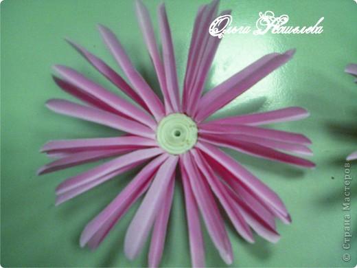Картина панно рисунок Мастер-класс Квиллинг Розовая композиция и mini МК Картон фото 23