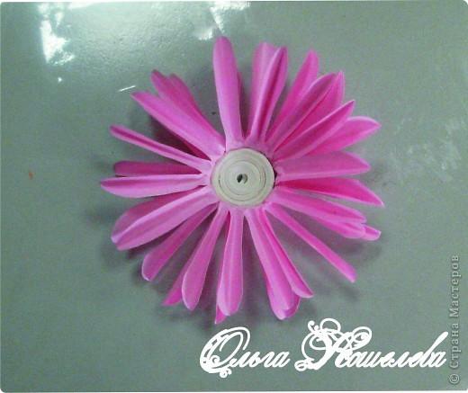 Картина панно рисунок Мастер-класс Квиллинг Розовая композиция и mini МК Картон фото 30