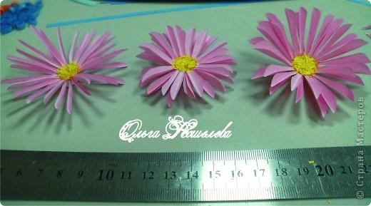 Картина панно рисунок Мастер-класс Квиллинг Розовая композиция и mini МК Картон фото 31