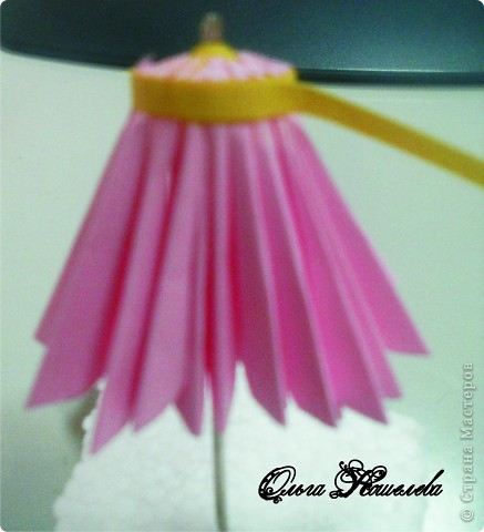Картина панно рисунок Мастер-класс Квиллинг Розовая композиция и mini МК Картон фото 13