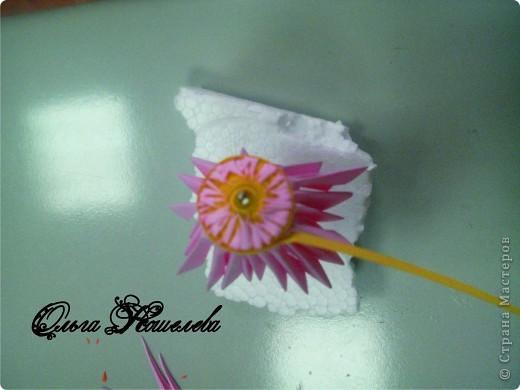 Картина панно рисунок Мастер-класс Квиллинг Розовая композиция и mini МК Картон фото 14