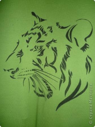Подарок любимому на прошедший новый год. Изображение тигра было найдено в интернете. фото 2