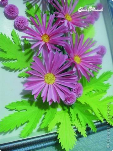 Картина панно рисунок Мастер-класс Квиллинг Розовая композиция и mini МК Картон фото 5