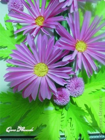 Картина панно рисунок Мастер-класс Квиллинг Розовая композиция и mini МК Картон фото 3