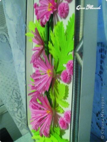 Картина панно рисунок Мастер-класс Квиллинг Розовая композиция и mini МК Картон фото 2