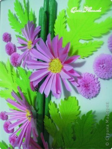 Картина панно рисунок Мастер-класс Квиллинг Розовая композиция и mini МК Картон фото 4