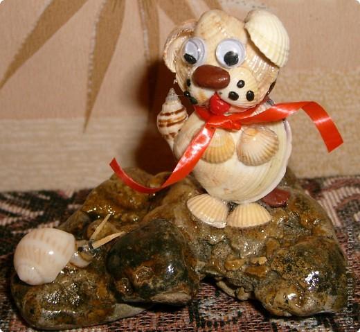 Летом на море набрала много ракушек.Идей очень много.Вот эта первая мая работа с ракушками.Камень тоже привезла с моря,очень понравилась необычная форма.Ракушки и камень покрыты лаком.
