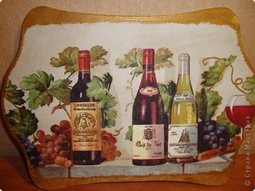"""декоративное панно для кухни""""Вино"""". фото 1"""