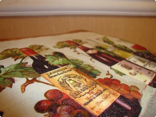 """декоративное панно для кухни""""Вино"""". фото 2"""