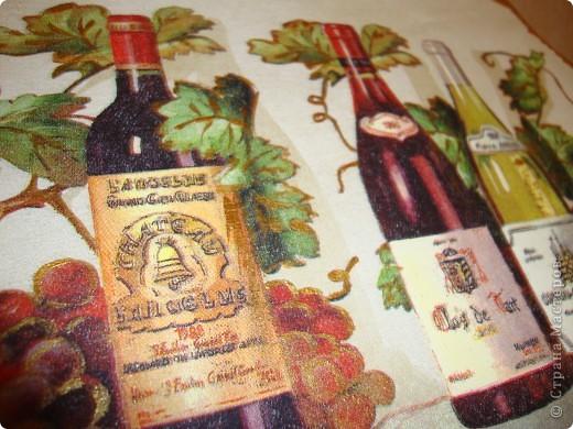 """декоративное панно для кухни""""Вино"""". фото 3"""