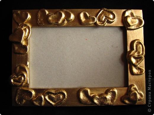 Рамочка, декорированная макаронами. фото 3