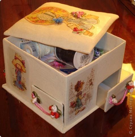 Я в восторге от сундучков из спичечных коробков, но хотелось побольше вместимости и попрактичнее оформление... фото 1