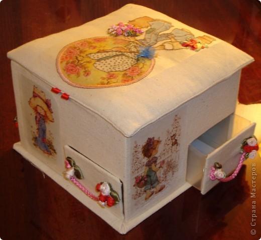 Я в восторге от сундучков из спичечных коробков, но хотелось побольше вместимости и попрактичнее оформление... фото 3