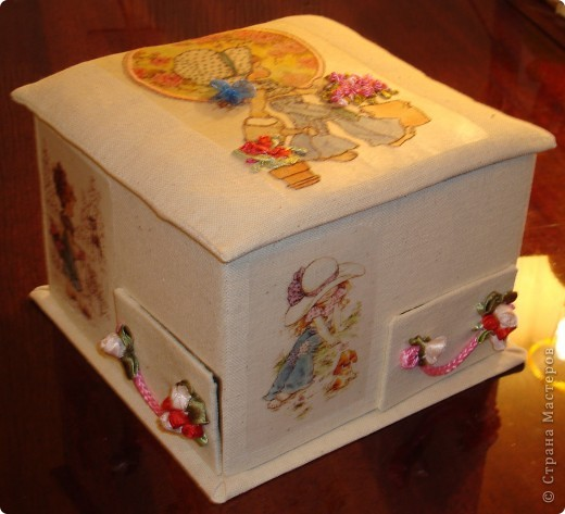Я в восторге от сундучков из спичечных коробков, но хотелось побольше вместимости и попрактичнее оформление... фото 4