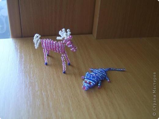 Бисероплетение фигурки животных.