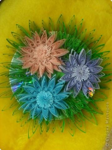 Цветочки на диске фото 1