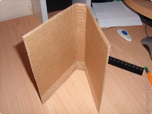 """Предлагаю всем научится делать такие открытки-туннели с помощью коробочного картона! Это моя первая работа, надеюсь, Вам тоже понравится делать такие открытки! Делать их очень легко и просто, особенно понравится работа """"неподготовленным"""", так как используемые материалы есть дома в любом случае!  фото 3"""