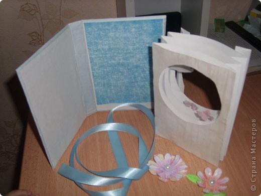 """Предлагаю всем научится делать такие открытки-туннели с помощью коробочного картона! Это моя первая работа, надеюсь, Вам тоже понравится делать такие открытки! Делать их очень легко и просто, особенно понравится работа """"неподготовленным"""", так как используемые материалы есть дома в любом случае!  фото 9"""