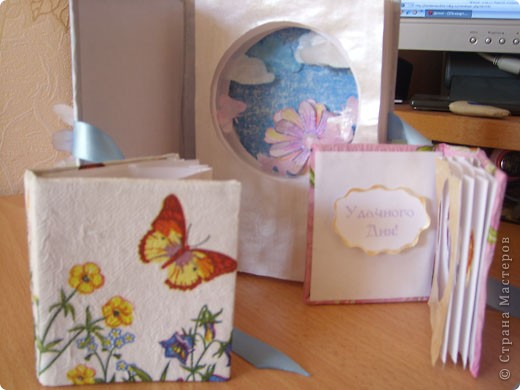 """Предлагаю всем научится делать такие открытки-туннели с помощью коробочного картона! Это моя первая работа, надеюсь, Вам тоже понравится делать такие открытки! Делать их очень легко и просто, особенно понравится работа """"неподготовленным"""", так как используемые материалы есть дома в любом случае!  фото 1"""
