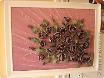 """Картины из ткани """"Розы"""" фото 1"""