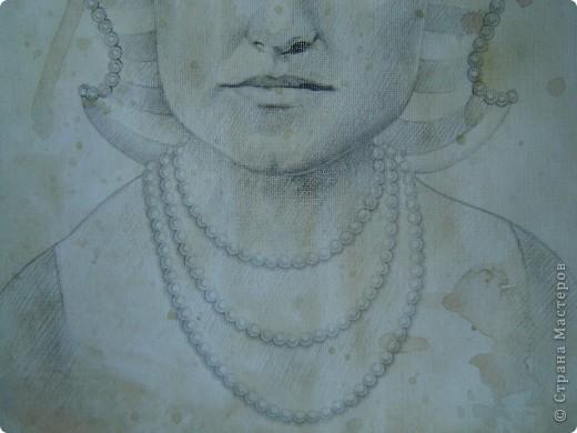 Это портрет Маргариты Григорьевны - лучшей подруги моей бабушки - в возрасте 22-х лет. Она изображена здесь в английском придворном костюме первой половины 16-го века. фото 2