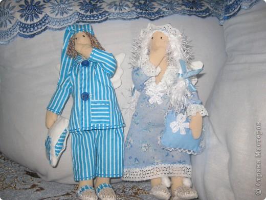 Пару сонных ангелов сшила для своих младших девочек. Как же приятно шить для детей!    Давайте познакомимся6 фото 1
