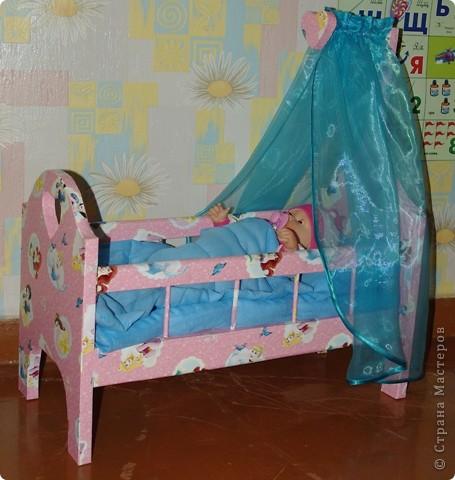 Кроватка для кукол своими руками фото 1