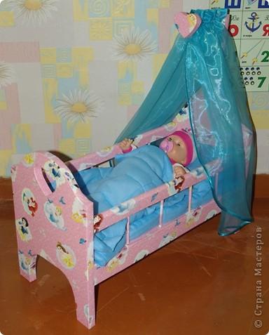 Кроватка для кукол своими руками фото 2