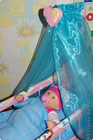 Кроватка для кукол своими руками фото 3