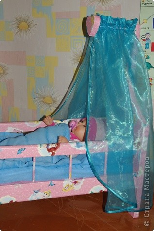 Кроватка для кукол своими руками фото 4