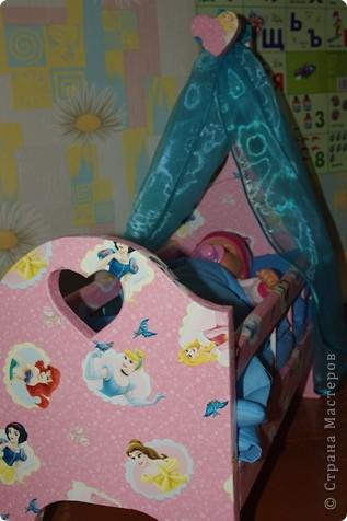 Кроватка для кукол своими руками фото 5