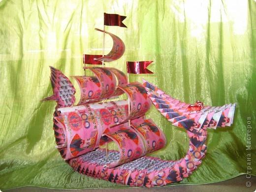 Корабль-дракон Бумага