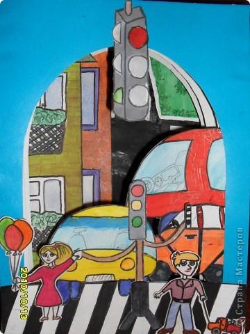 Конкурс творческих работ обучающихся «Безопасность детей на дорогах» проводится министерством образования и науки Астраханской области, Астраханской региональной общественной организацией «Доброе сердце» при участии областного государственного образовательного учреждения дополнительного профессионального образования «Астраханский институт повышения квалификации и переподготовки» при поддержке коммерческих партнеров в целях развития правовой культуры несовершеннолетних, распространения знаний правил дорожного движения, привлечения внимания детей и взрослых к проблемам безопасности на дорогах.   Дети моего класса приняли участие в этом конкурсе. Наша работа называется - «Будь осторожен на дороге». фото 1