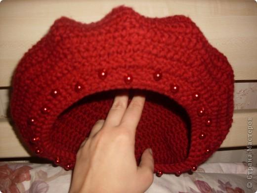 Решила попробовать себя в вязании шапочек. Вроде получилось. фото 3