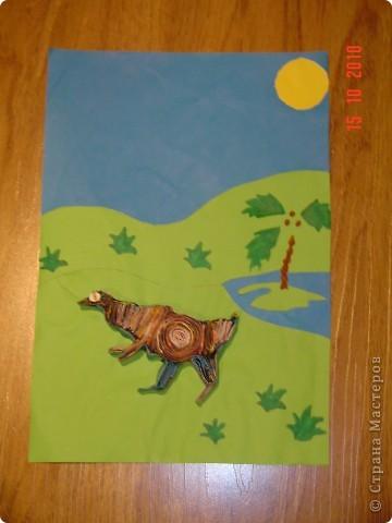 Динозавр в джунглях