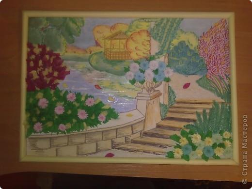 Осенний сад Бумага Краска Продукты