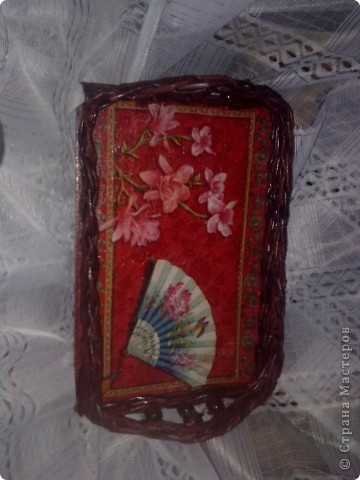 Комплект: поднос, хлебница, коробочка фото 2