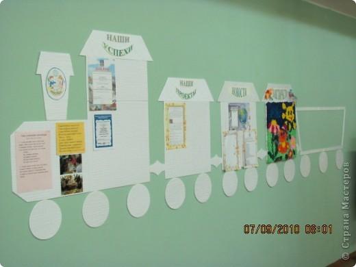 После летнего ремонта в классе сделали вот такой школьный уголок. фото 1