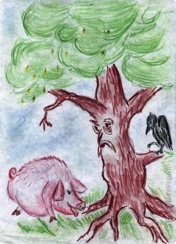 Случайно нашла свои старые. еще школьные, работы. Учитель литературы очень любила наши илюстрации к художественным произведениям. А я любила рисовать. фото 4