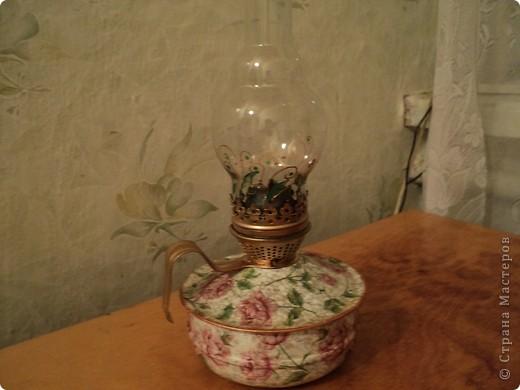 Еще одну лампу задекупажила. фото 1