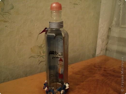 Вот несколько моих бутылок. Здесь витражные краски-прилипалы. фото 2