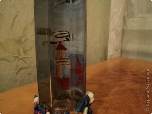 Вот несколько моих бутылок. Здесь витражные краски-прилипалы. фото 3