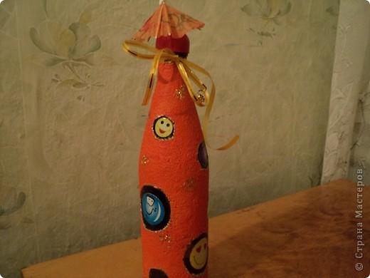 Вот несколько моих бутылок. Здесь витражные краски-прилипалы. фото 6
