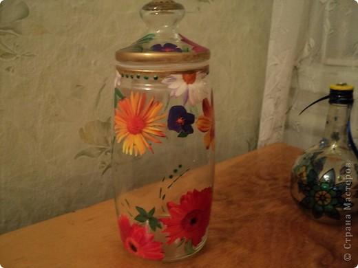 Вот несколько моих бутылок. Здесь витражные краски-прилипалы. фото 9