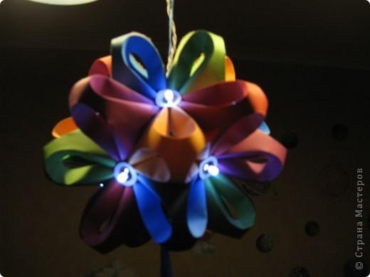 Вот такой ночник я придумала для детей из полюбившегося многим шара.   Фото при выключенном свете.  фото 2