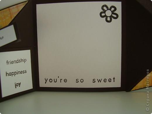 На этой неделе у меня был урожай открыток :). Начнем по порядку: кофейная открытка с тиснением. фото 10